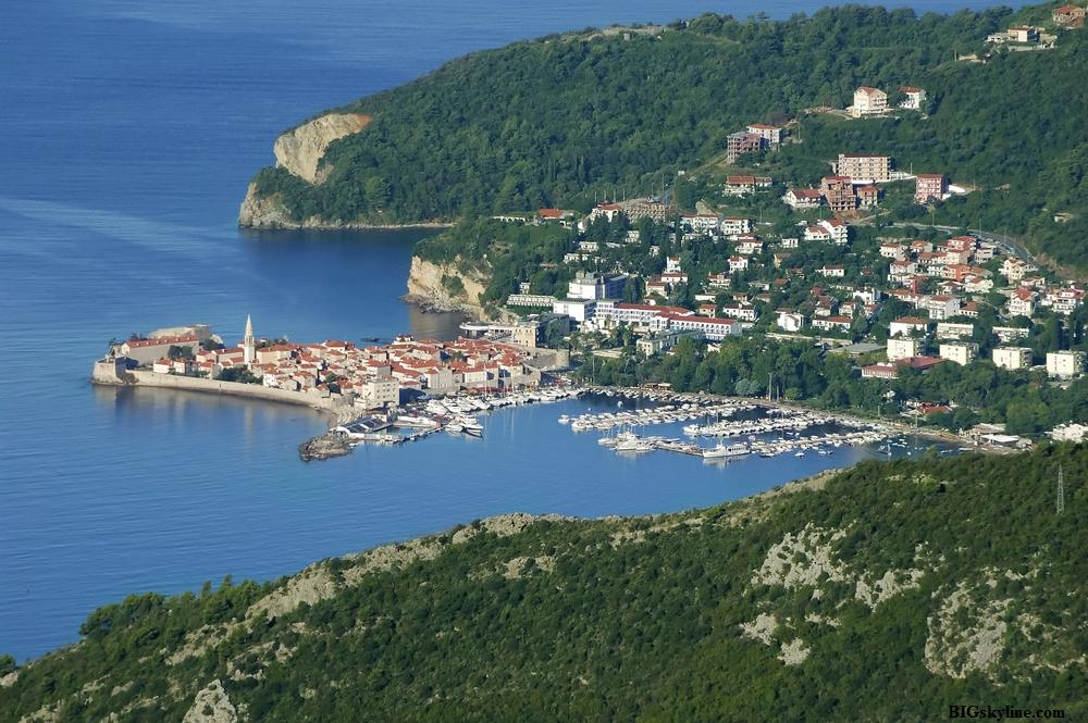 Budva Montenegro  city pictures gallery : Budva, Montenegro city skyline pic
