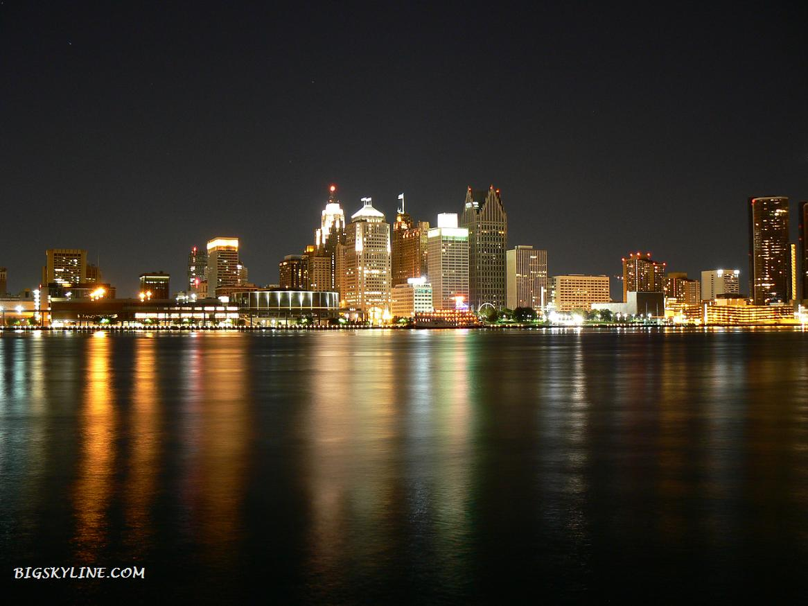 Picture of Detroit City Skyline at night