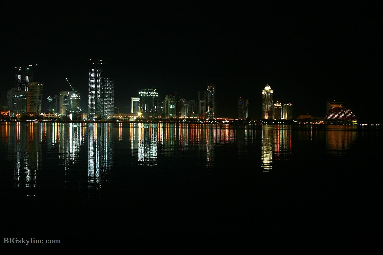 Doha City at night, picture