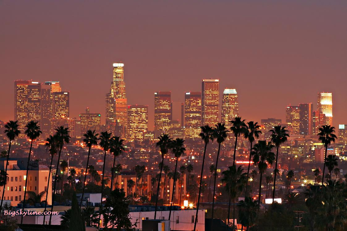 L.A. skyline at night