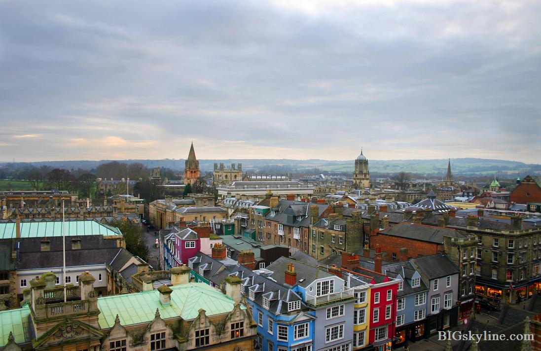 Oxford skyline in England