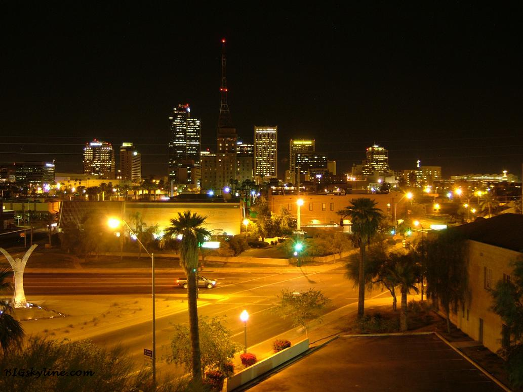 Phoenix skyline at night