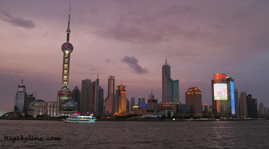 Picture of Shanghai's Skyline in the evening