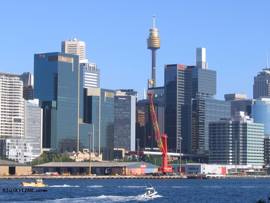 A close look at part of Sydney's skyline in Australia